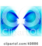 Royalty Free RF Clipart Illustration Of A Dual Blue Fractal Background