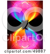 Royalty Free RF Clipart Illustration Of A Rainbow Colored Fractal Background