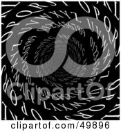 Royalty Free RF Clipart Illustration Of White Letters And Numbers Spiraling Down A Tunnel Symbolizing Email Or Dyslexia by Arena Creative