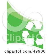 Royalty Free RF Clipart Illustration Of A Recycle Arrow Triangle On A Green And White Background by Arena Creative