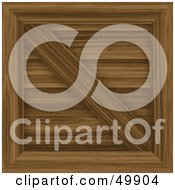 Royalty Free RF Clipart Illustration Of A Secured Wooden Cargo Crate by Arena Creative