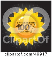 Royalty Free RF Clipart Illustration Of A Gold Satisfaction 100 Percent Guaranteed Seal On Black