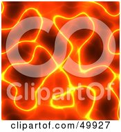 Royalty Free RF Clipart Illustration Of A Background Of Yellow Glowing Ridges Of Red Lava