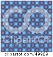 Royalty Free RF Clipart Illustration Of A Retro Purple And Blue Square Patterned Background by Arena Creative