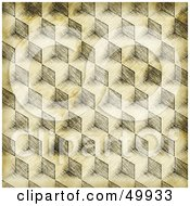 Royalty Free RF Clipart Illustration Of A Cubic Sketch Background With Grunge by Arena Creative