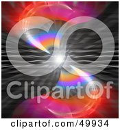 Royalty Free RF Clipart Illustration Of A Solar Flare With Colorful Waves