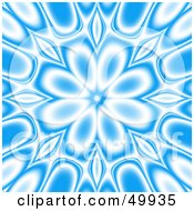 Royalty Free RF Clipart Illustration Of A Blue And White Floral Kaleidoscope Background