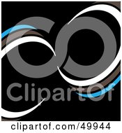 Royalty Free RF Clipart Illustration Of A Black Background With White Brown And Blue Curves by Arena Creative