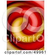 Royalty Free RF Clipart Illustration Of A Yellow And Red Smooth Swirl Background by Arena Creative