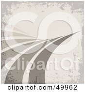 Royalty Free RF Clipart Illustration Of A Gray Grunge Background With Curving Swooshes