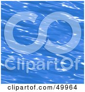 Royalty Free RF Clipart Illustration Of A Brilliant Blue Rippling Water Surface Background
