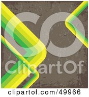 Royalty Free RF Clipart Illustration Of A Brown Grunge Background Bordered With Green Curves