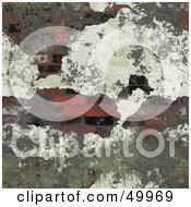 Royalty Free RF Clipart Illustration Of Plaster Crumbling Off To Reveal A Brick Wall