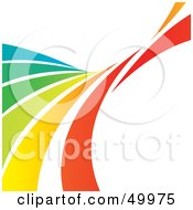 Royalty Free RF Clipart Illustration Of A Curving Rainbow Swoosh On White