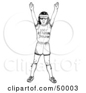 Royalty Free RF Clipart Illustration Of A Happy Brownie Girl In Her Uniform