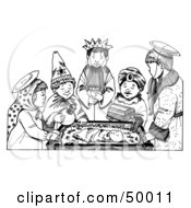 Royalty Free RF Clipart Illustration Of A Childs Play Nativity Scene