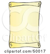 Royalty Free RF Clipart Illustration Of A Blank Vertical Scroll Menu Or Sign by Snowy #COLLC50017-0092