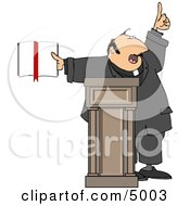 Religious Man Preaching From The Bible Clipart