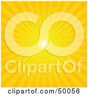 Royalty Free RF Clipart Illustration Of A Yellow Radial Burst Background Of Light Rays