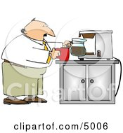 Businessman Getting A Cup Of Coffee Clipart