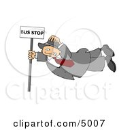 Person Getting Blown Around In The Wind Clipart