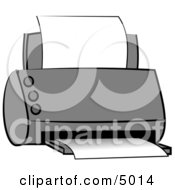 Standard Office Paper Printer Clipart by Dennis Cox