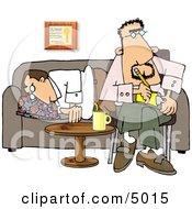 Psychiatrist Sitting Beside Sleeping Patient
