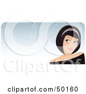 Royalty Free RF Clipart Illustration Of A Pretty Woman Wearing A Headband And Daydreaming