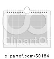 Royalty Free RF Clipart Illustration Of A Blank Monthly Calendar In Gray And White