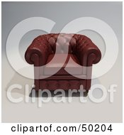 Royalty Free RF Clipart Illustration Of A Brown Cushiony Armchair