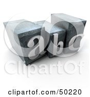 Royalty Free RF 3D Clipart Illustration Of ABC Typescript Letters