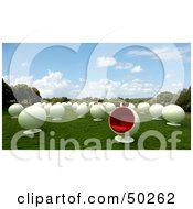 Royalty Free RF Clipart Illustration Of A Field Of White Cocoon Chairs