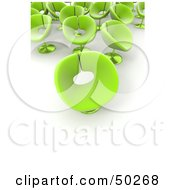 Royalty Free RF Clipart Illustration Of A Group Of Green Flower Like Chairs On White