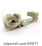 Royalty Free RF Clipart Illustration Of A Tan CLUB Bench With A Seat In The U