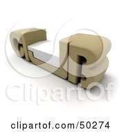 Royalty Free RF Clipart Illustration Of A Beige CLUB Bench With A Seat In The U