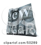 Happy New Year Typesetting Blocks
