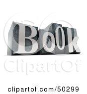 Royalty Free RF 3D Clipart Illustration Of Silver BOOK Typeset Blocks