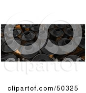 Royalty Free RF 3D Clipart Illustration Of A Background Of Film Canisters by Frank Boston