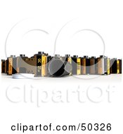 Royalty Free RF 3D Clipart Illustration Of A Crowd Of Photographic Film Canisters by Frank Boston