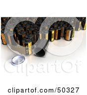 Royalty Free RF 3D Clipart Illustration Of A Group Of Yellow Film Canisters by Frank Boston