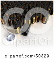 Royalty Free RF 3D Clipart Illustration Of Photographic Film Canisters by Frank Boston