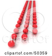 Royalty Free RF 3D Clipart Illustration Of Rows Of Red Balls