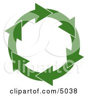Circular Arrow Recycling Symbol Clipart