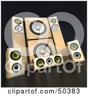 Clipart Illustration Of Wooden Sound System Speakers