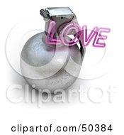Royalty Free RF 3D Clipart Illustration Of An Explosive Love Grenade Version 2