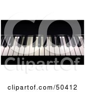 Royalty Free RF 3D Clipart Illustration Of Black And White Piano Keys