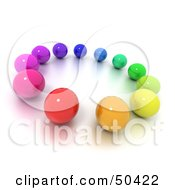 Royalty Free RF 3D Clipart Illustration Of A Circle Of Diverse Marbles by Frank Boston