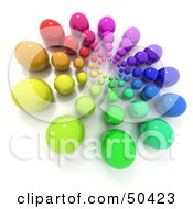 Royalty Free RF 3D Clipart Illustration Of A Colorful Marble Burst