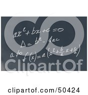 Royalty Free RF 3D Clipart Illustration Of A Math Formula Written Out On A Chalkboard