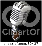 Royalty Free RF 3D Clipart Illustration Of A Retro Microphone Version 2